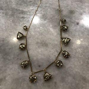 Kate Spade Twinkle Lights gold glitter necklace
